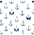 ship anchors seamless pattern armature vector image
