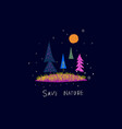 space planet nature tree star save nature vector image