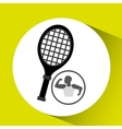 strong man silhouette and racket tennis vector image vector image