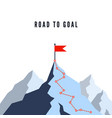 success route path to top mountain business vector image vector image