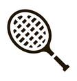 tennis racket icon glyph vector image vector image