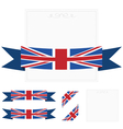 uk ribbons vector image vector image