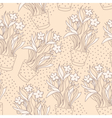 Wallpaper seamless pattern with narcissus vector image