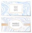 wedding invitations with marble paper texture vector image