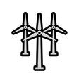 wind mill icon Save energy design graphic vector image vector image
