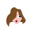 Woman head icon Cartoon and avatar design vector image vector image