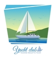 Yacht club poster vector image