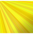 yellow abstract sunray background design vector image vector image