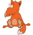 Young fox cartoon vector image vector image
