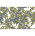juniper tree seamless pattern hand drawn vector image