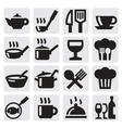 restaurant cafe and bar icons vector image