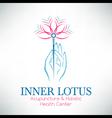 Acupuncture logo design vector image
