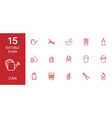 15 can icons vector image vector image