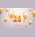 20th anniversary celebration vector image vector image