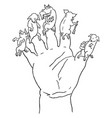 5 little pigs finger puppets vintage engraving