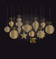 abstract luxury minimal christmas baubles vector image vector image