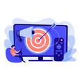 addressable tv advertising concept