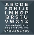 alphabet set silver on dark blue background