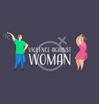 angry husband punching and hitting wife stop vector image vector image