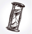 antique vintage hourglass hand drawn vector image