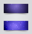 Banners with the starry sky vector image vector image