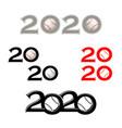 baseball symbol new 2020 year vector image vector image