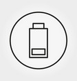 battery with minimum charge icon line a vector image vector image