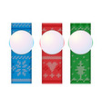 christmas vertical banners knitted ornament vector image vector image