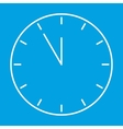 Clock thin line icon vector image
