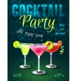 Cocktail party poster vector image vector image