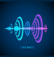 color abstract digital sound wave sine wave on vector image