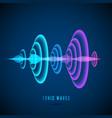 color abstract digital sound wave sine wave vector image vector image
