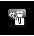corrupt policeman vector image vector image