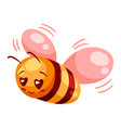 cute bee in love valentine day vector image