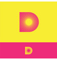 d logo sunrays monogram sun yellow resort tourism vector image vector image