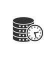 data center icon in flat style clock on white vector image vector image