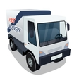 Delivery Cargo Truck Graphic on White Background vector image vector image
