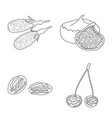 design of food and raw symbol set of food vector image