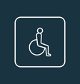 disabled outline symbol premium quality isolated vector image vector image