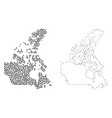 dotted contour map of canada vector image