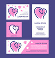 elephant and heart shape banners set vector image vector image