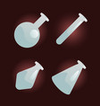 flasks set vector image
