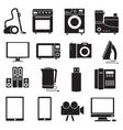 Flat modern kitchen appliances set icons concept vector image vector image