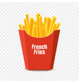 french potato pack box cartoon fastfood fry vector image vector image