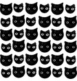 funny kitten pattern hand drawn art vector image vector image
