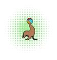 Fur seal circus comics icon vector image vector image