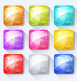 gems and jewel icons and buttons set for mobile vector image