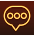 Glowing golden icon Speech bubble vector image vector image