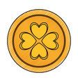 golden coin design vector image vector image