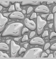 gray stone seamless background vector image